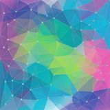 Abstract poligon geometric colorfull background consisting of triangles. vector illustration