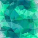 Abstract poligon geometric green background consisting of triangles. stock illustration