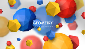 Abstract poligonal background. 3d render illustration. Geometric background with low-poly elements. Abstract poligonal background. 3d render illustration Royalty Free Stock Image