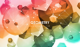 Abstract poligonal background. 3d render illustration. Geometric background with low-poly elements. Abstract poligonal background. 3d render illustration Royalty Free Stock Photo