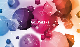 Abstract poligonal background. 3d render illustration. Geometric background with low-poly elements. Abstract poligonal background. 3d render illustration Stock Photo