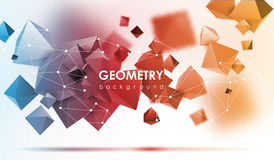 Abstract poligonal background. 3d render illustration. Geometric background with low-poly elements. Abstract poligonal background. Geometric background with low Royalty Free Stock Image
