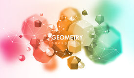 Abstract poligonal background. 3d render illustration. Geometric background with low-poly elements. Abstract poligonal background. Geometric background with low Royalty Free Stock Photography