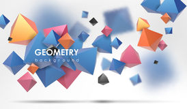 Abstract poligonal background. 3d render illustration. Geometric background with low-poly elements. Abstract poligonal background. Geometric background with low Stock Photos