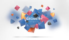 Abstract poligonal background. 3d render illustration. Geometric background with low-poly elements. Abstract poligonal background. Geometric background with low Stock Photo