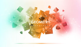 Abstract poligonal background. 3d render illustration. Geometric background with low-poly elements. Abstract poligonal background. Geometric background with low Stock Images