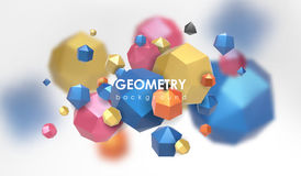 Abstract poligonal background. 3d render illustration. Geometric background with low-poly elements. Abstract poligonal background. Geometric background with low Royalty Free Stock Photos