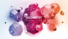 Abstract poligonal background. 3d render illustration. Geometric background with low-poly elements. Abstract poligonal background. Geometric background with low Stock Image