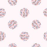 Abstract Polka Dot Circle Seamless Vector Pattern. Hand Drawn Dotty Background Illustration for Trendy Packaging Wrap, Retro 1950s Style Fashion Print stock illustration
