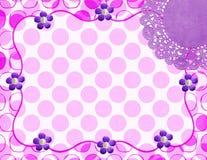 Polka Dot Doily Frame Royalty Free Stock Image