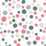 Abstract polka dot vector seamless background royalty free illustration