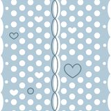 Abstract polka dot vector seamless pattern with little hearts and weave vector illustration