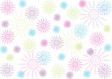 Abstract polka dots flowers background Stock Image