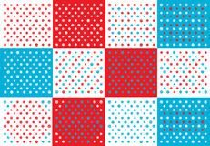Abstract polka dots patchwork background Stock Image