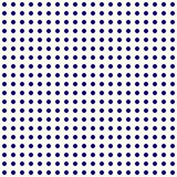 Abstract polka dots seamless pattern dark blue on white background. vector illustration