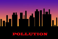 Abstract pollution illustration stock illustration