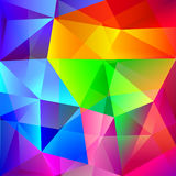 Abstract Poly Background. In Vibrant Rainbow Colors. Repeating Geometric Pattern Vector Royalty Free Stock Photos