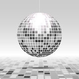 Abstract poly perspective. Disco ball icon isolated on grayscale background Royalty Free Stock Images