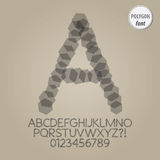 Abstract Polygon Alphabet and Digit Vector Stock Photography