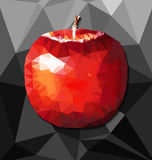 Abstract polygon background with apple Stock Image