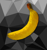Abstract polygon background with  banana Royalty Free Stock Photo