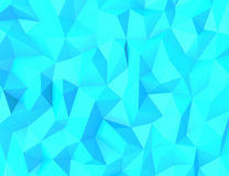 Abstract polygon background. Blue geometric space from triangles Stock Images