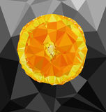 Abstract polygon background with orange Stock Images