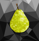 Abstract polygon background with pear Stock Image