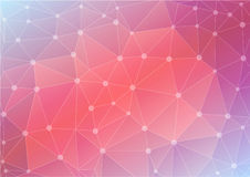 Abstract polygon background in pink tones Royalty Free Stock Photography