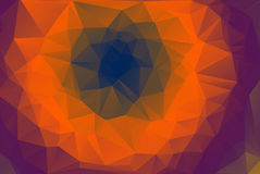 Abstract Polygon Background With Purple Orange Stock Image