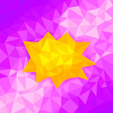 Abstract polygon background Royalty Free Stock Photo