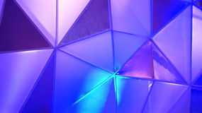 Abstract polygon blue background Stock Images