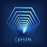 Logo. Cyber crystal. Abstract polygon. Brilliant crystal. Logo. Cyber crystal Royalty Free Stock Images
