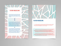 Abstract polygon Brochure Flyer design vector template in A4 size with 3D Paper Graphics Stock Photo