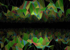 Abstract polygon cave. Render of an abstract cave made with polygons royalty free illustration