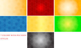 Abstract polygon 7 colors background style Vector royalty free stock photo