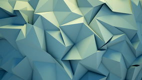 Abstract polygon crystallized background. 3D render abstract polygon crystallized background, sliding video stock illustration