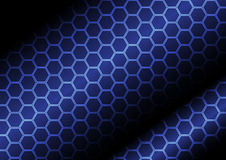 Abstract polygon on dark blue business background. Rgb mode Royalty Free Stock Photography