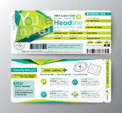 Abstract Polygon Design Boarding Pass Event Ticket Invite Card Stock Images