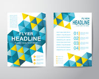 Abstract polygon design template layout for brochure flyer in A4. Size, vector eps10 Stock Photography