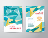 Abstract polygon design template layout for brochure flyer in A4 Stock Photography