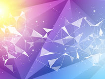 Abstract polygon geometric background. Vector and illustration Royalty Free Stock Photo