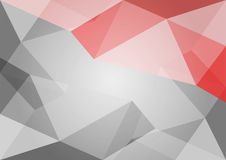 Abstract polygon grey and red background. Stock Photography