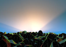 Abstract polygon landscape Stock Image