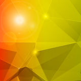 Abstract polygon mosaic background orange and green Royalty Free Stock Images