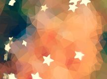 Abstract polygon orange star warm wallpaper Stock Photography