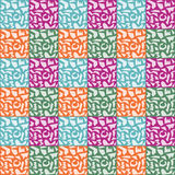 Abstract Polygon Pattern on Colorful Background Stock Photography