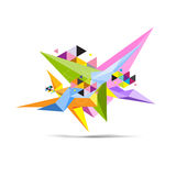 Abstract polygon science object. Vector abstract polygon science object Stock Photos