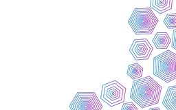 Abstract polygon shape with white background vector illustration