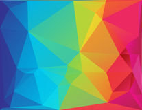 Abstract polygon spectrum background Stock Photo